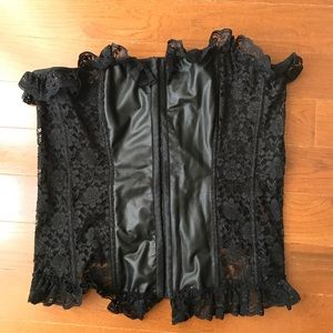 Other - Plus size corsets with lace and leather detail